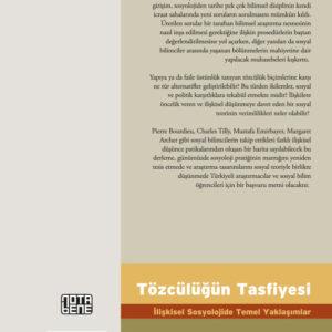 Tözcülüğün Tasfiyesi İlişkisel Sosyolojide Temel Yaklaşımlar (TÜKENDİ)
