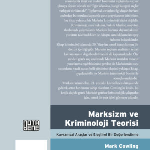 Marksizm ve Kriminoloji Teorisi - Kavramsal Araçlar ve Eleştirel Bir Değerlendirme