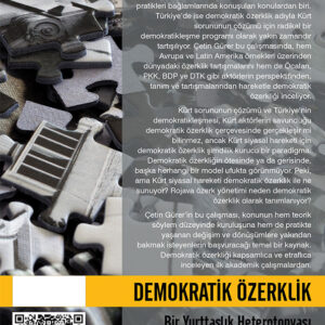 DEMOKRATİK ÖZERKLİK - BİR YURTTAŞLIK HETEROTOPYASI (TÜKENDİ)